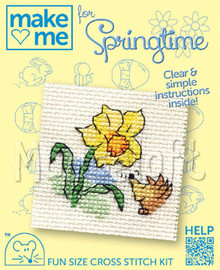 Daffodil and Hedgehog Cross Stitch Kit by Mouseloft