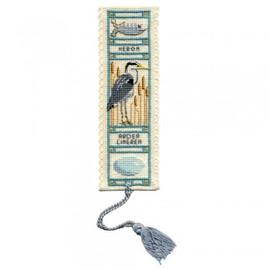 Heron Bookmark By Textile Heritage