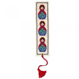 Russian Doll Bookmark By Textile Heritage