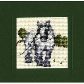 Shire Horse Miniature Card By Textile Heritage