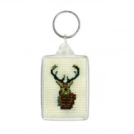 Stag Keyring By Textile Heritage