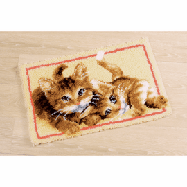 Latch Hook Kit: Rug: Kittens by Vervaco