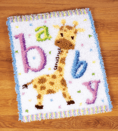 Latch Hook Kit: Rug: Baby Giraffe II By Vervaco