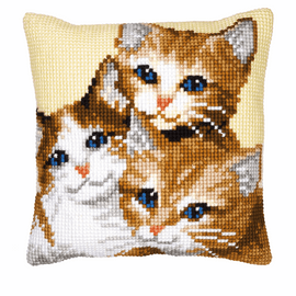 Cross Stitch Kit: Cushion: Kittens by Vervaco