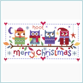 Christmas Owls Cross Stitch Kit by Stitching Shed