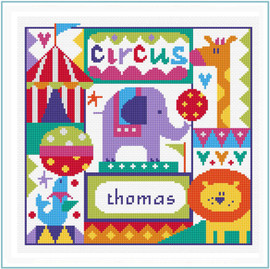 Circus Sampler Cross Stitch Kit by Stitching Shed