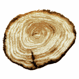Latch Hook Kit: Shaped Rug: Tree Stump by Vervaco