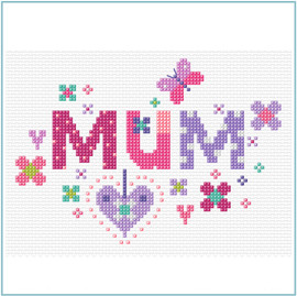 Floral Mum Cross Stitch Kit by Stitching Shed