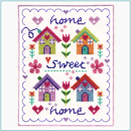 Floral Home Cross Stitch Kit by Stitching Shed