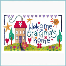 Grandma's Home Cross Stitch Kit by Stitching Shed
