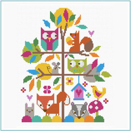 Forest Fun Cross Stitch Kit by Stitching Shed