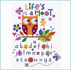 Life's a Hoot Sampler by Stitching Shed