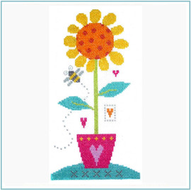 Sunflower Cross Stitch Kit by Stitching Shed