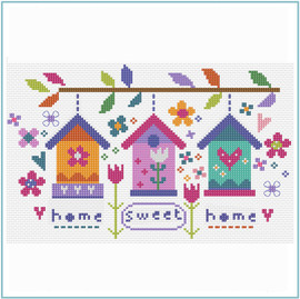 Sweet Garden Sampler Cross Stitch Kit by Stitching Shed