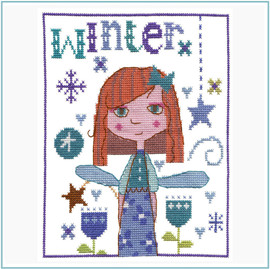 Winter Fairy Cross Stitch Kit by Stitching Shed