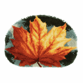 Latch Hook Kit: Rug: Shaped: Kit: Autumn Leaf by Vervaco