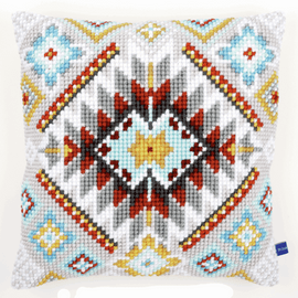 Cross Stitch Kit: Cushion: Cushion: Ethnic by Vervaco
