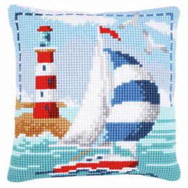Cross Stitch Kit: Cushion: Lighthouse By Vervaco