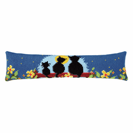 Cross Stitch Kit: Draught Excluder: Cat Family By Vervaco
