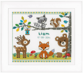 Counted Cross Stitch Kit: Forest Animals by vervaco