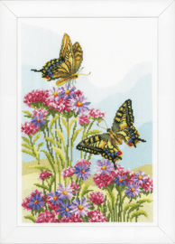 Counted Cross Stitch Kit: Swallowtails by Vervaco