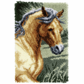 Latch Hook Kit: Rug: Horse by Vervaco