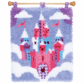 Latch Hook Kit: Rug: Fairytale Castle by Vervaco