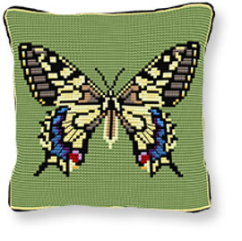 Swallowtail Tapestry cushion kit by Brigantia