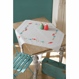 Picture of Cross Stitch Kit: Tablecloth: Feathers Picture of Cross Stitch Kit: Tablecloth: Feathers Cross Stitch Kit: Tablecloth: Feathers By Vervaco