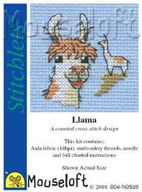 Llama Cross Stitch Kit by Mouseloft