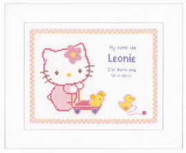 Counted Cross Stitch Kit: Hello Kitty with Duck Aida by Vervaco