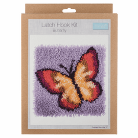 Latch Hook Kit: Butterfly By Trimmit