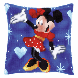 Cross Stitch Cushion Kit: Disney: Minnie Mouse By Vervaco