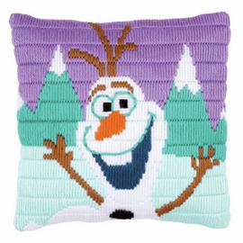 Long Stitch Kit: Disney: Cushion: Frozen Olaf  By Vervaco