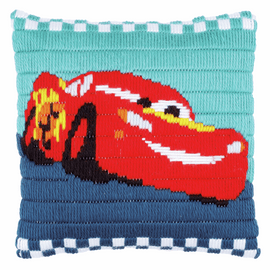 Long Stitch Kit: Cushion: Disney: Cars  By Vervaco