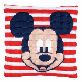Long Stitch Kit: Cushion: Disney: Mickey Mouse By Vervaco