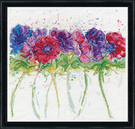 Modern Anemones Cross Stitch By Design Works