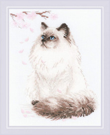 Meow-Zen Cross Stitch By Riolis