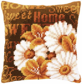 Cross Stitch Kit: Cushion: Daisies By Vervaco