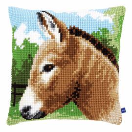 Cross Stitch Kit: Cushion: Donkey By Vervaco