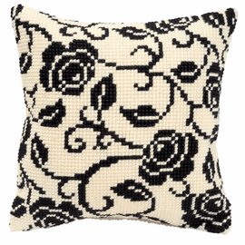 Cross Stitch Kit: Cushion: Blackworks Design 2 By Vervaco