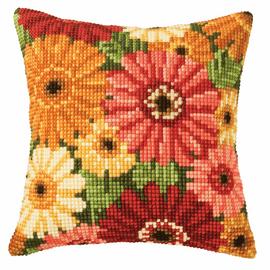 Cross Stitch Kit: Cushion: Gerbera By Vervaco