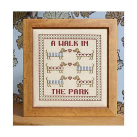 A Walk in the Park cross stitch By Historical Sampler Company