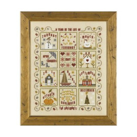 A Year in the Life of ... cross stitch By Historical Sampler Company