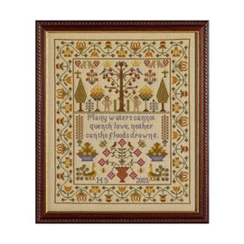 Adam & Eve cross stitch Sampler By Historical Sampler Company