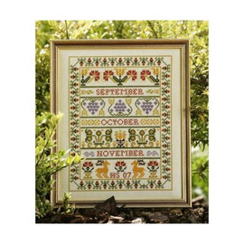 Autumn Band Sampler cross stitch By Historical Sampler Company