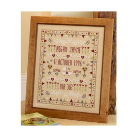 Bunting Cradle Birth Sampler Cross Stitch By Historical Sampler Company