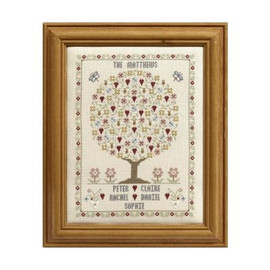 Butterfly And Bee Family Tree Cross Stitch By Historical Sampler Company