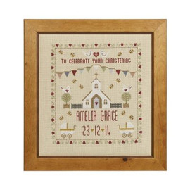 Christening Sampler Cross Stitch By Historical Sampler Company