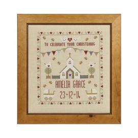 Christening Sampler Cross Stitch By Historical Sampler Company